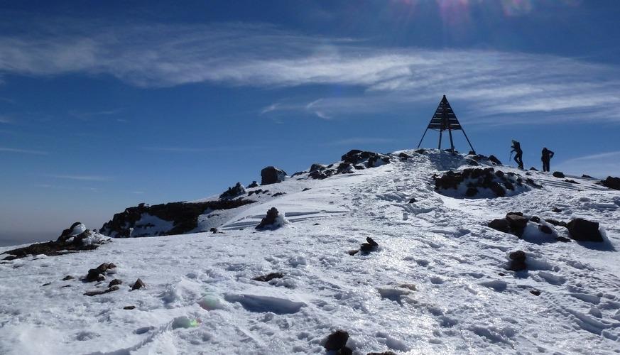 Toubkal Summit Winter Trek 3 Days - TrekkingToubkal Ascent